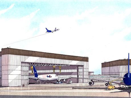 FedEx Airbus Hangar Facility 1